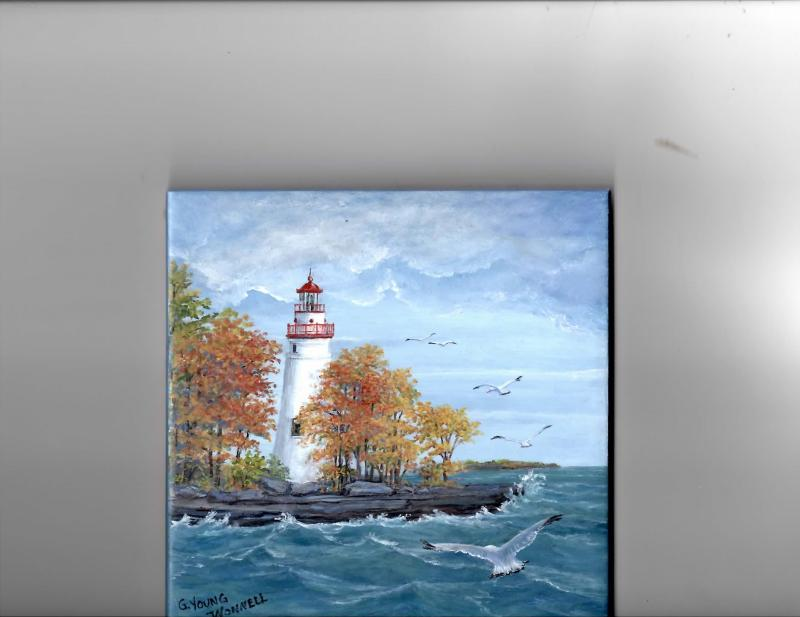 Marblehead Lighthouse Autumn scene
